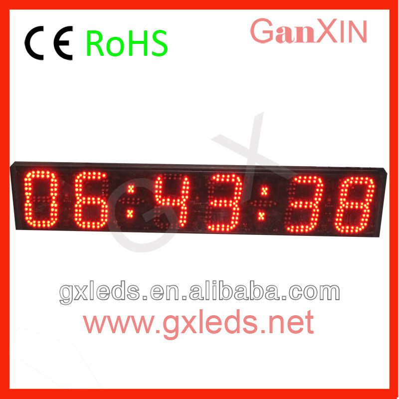 12v 6 digit electronics led timer clock