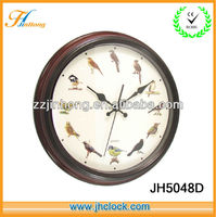Hot selling antique plastic wall clock wooden like