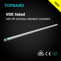 VDE CE ROHS listed High Lumen 140Lm/W T8 LED Tube 10W 14W 18W 23W 29W