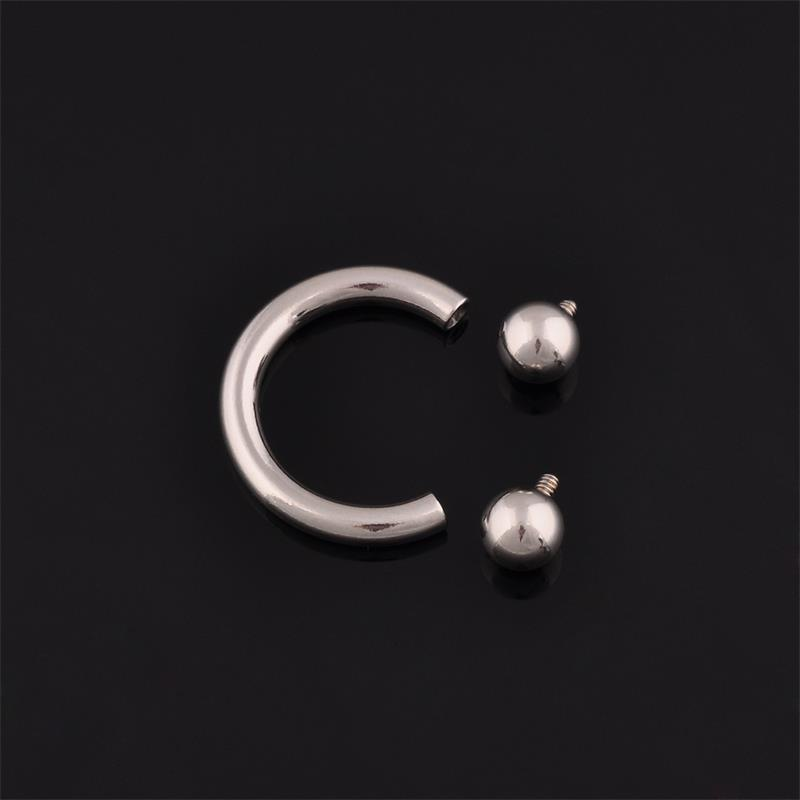 16g body piercing jewelry g23 titanium internally threaded CBR with balls