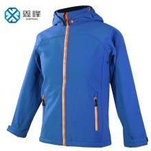 Wholesale Windbreaker Kid Softshell Blue Jacket