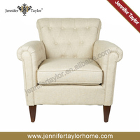 linen cotton upholstered Single Seat Fabric Sex Sofa Chair