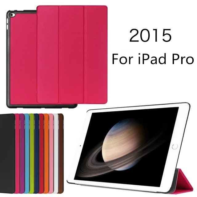 New arrival protective tri-folding leather tablet case for iPad Pro 12.9 inch , for iPad pro case leather
