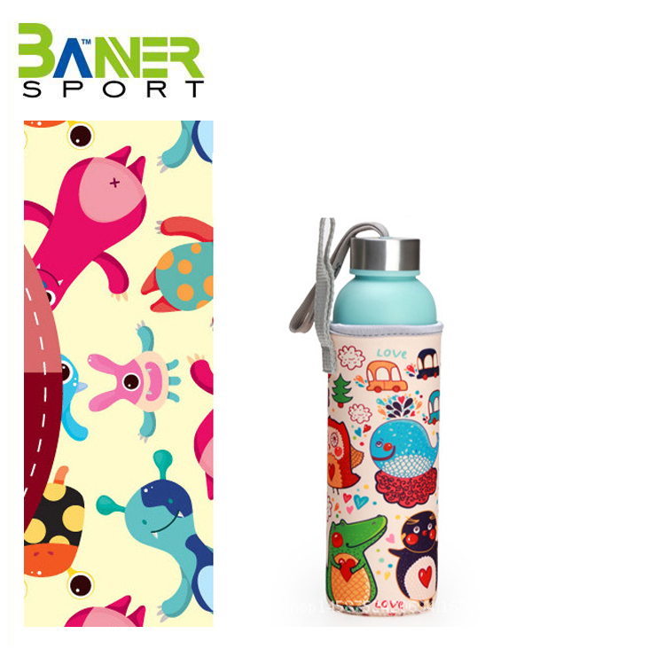 Hot drink insulated bottle sleeve neoprene can cooler non-skid cover bag