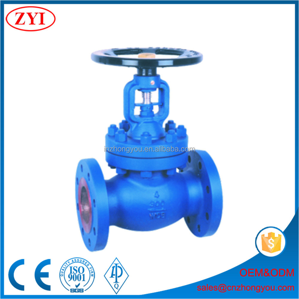 Fast delivery 4'' handwheel operated globe valve