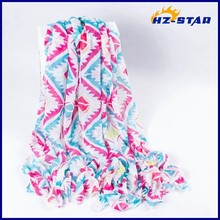 HZW-13585002 Wholesale plain best-selling latest design cotton voile print shawl and scarf