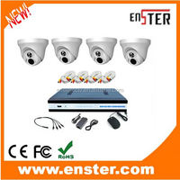 cctv camera kit 1.0MP 4 channel DVR AHD camera kit with low cost