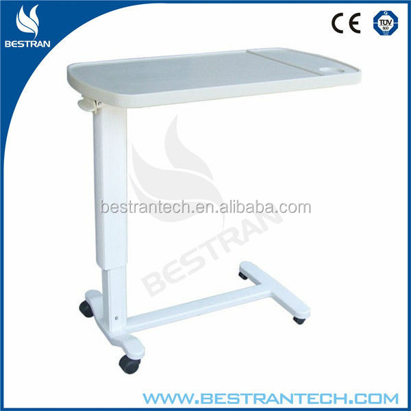 BT-AT002 foldable hospital bed table with drawer