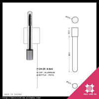 Silver base empty unique 6.5ml clear best inverted mascara tube