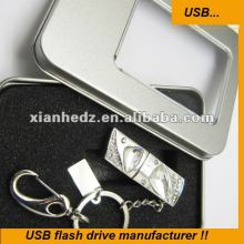Crystal Pendant usb flash memroy Jewelry usb cheap flash drive bulk