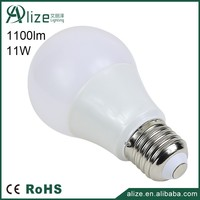 China manufacturer 220V dimmable 11w E27 led bulb lamp