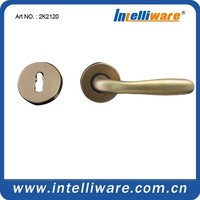 Hot sell golden F3 color industrial lever type square rose door handle