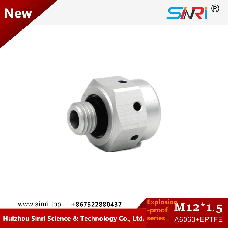 M12*1.5 Screw in Aluminium Vent Plug with e-PTFE membrane to balance pressure safety vent plug for car battery