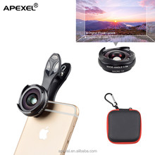 newest premium quality 0.6x hd super wide angle lens Amazon top seller 2017 mobile phone detachable camera for iphone lens