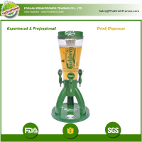 3 taps draft beer tower drink dispenser with 4 liters capacity
