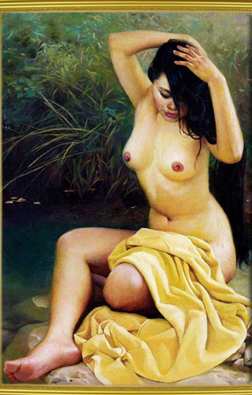 sex women photo image sex hot beautiful girl oil painting
