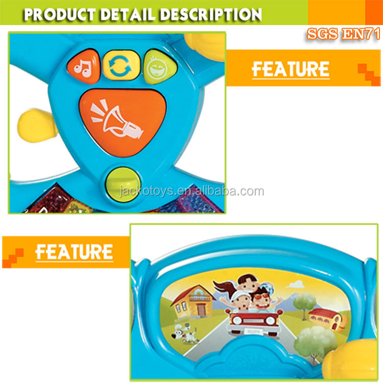 Funny baby learning toy steering wheel with music and light