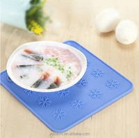 Factory Supplier Square Silicone Rubber Placemats Table Place Mats