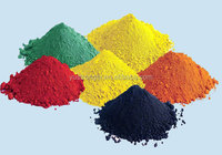 iron oxide pigments for the enamel to be applied to metals