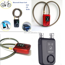Smart bluetooth lock wireless bicycle anti theft alarm lock