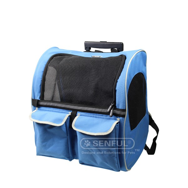 SDT3018B Pet Car Seat Carrier, Rucksack, Trolley Bag for Travel