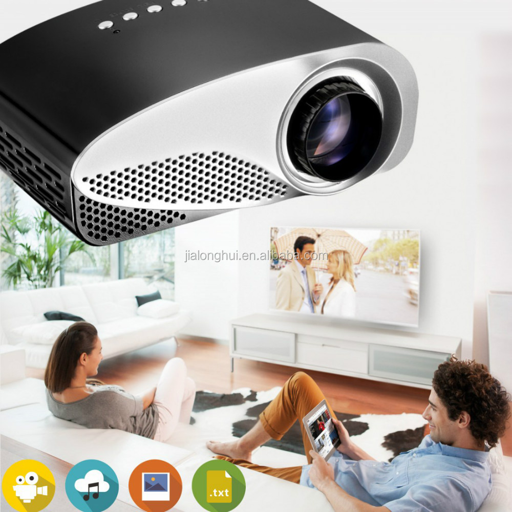 Best video Projector for phone ,1920x1080 HD 1080P 16W LED Mini Portable 8S Projector