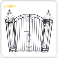 Iron Garden Gate Wrought Side Door Metal Yard Arch Trellis Design Climbing Plant