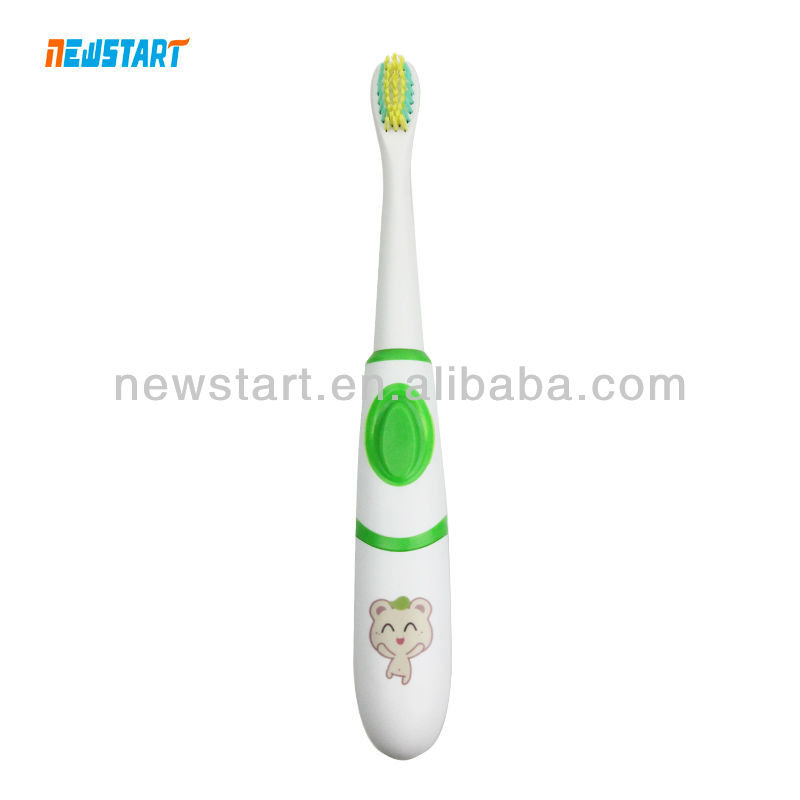 2013 new design sonic toothbrush, vibrator and timer toothbrush cartoon printing
