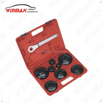 WINMAX Oil Filter Wrench Set - Cup Type 9pc Automotive Wrench WT05218