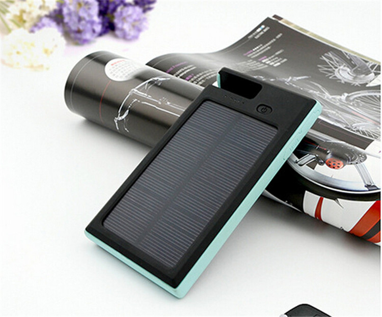 Portable phone holder 8000mah waterproof solar panel phone charger
