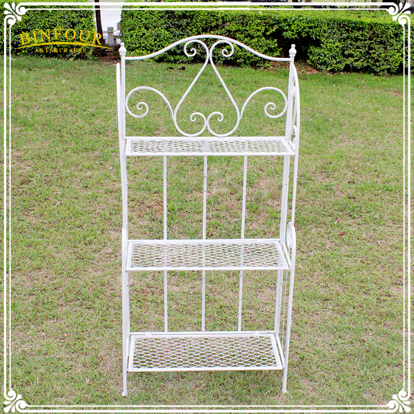 white 3 tier iron rack bookcases home furniture