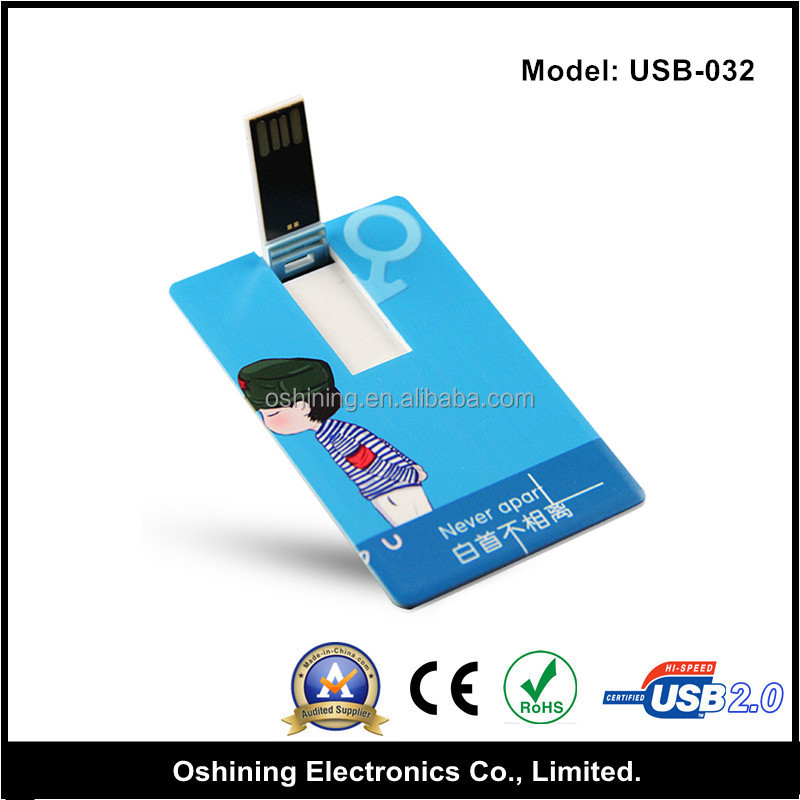 Customized business card style usb flash drives 16gb usb for Business card usb flash drive