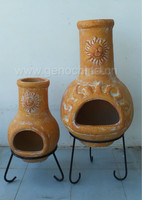 Garden supply outdoor clay chimineas