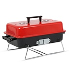 NCA06 Grand Portable Hamburger Chariot BARBECUE BARBECUE Au Charbon De Bois Barbecue