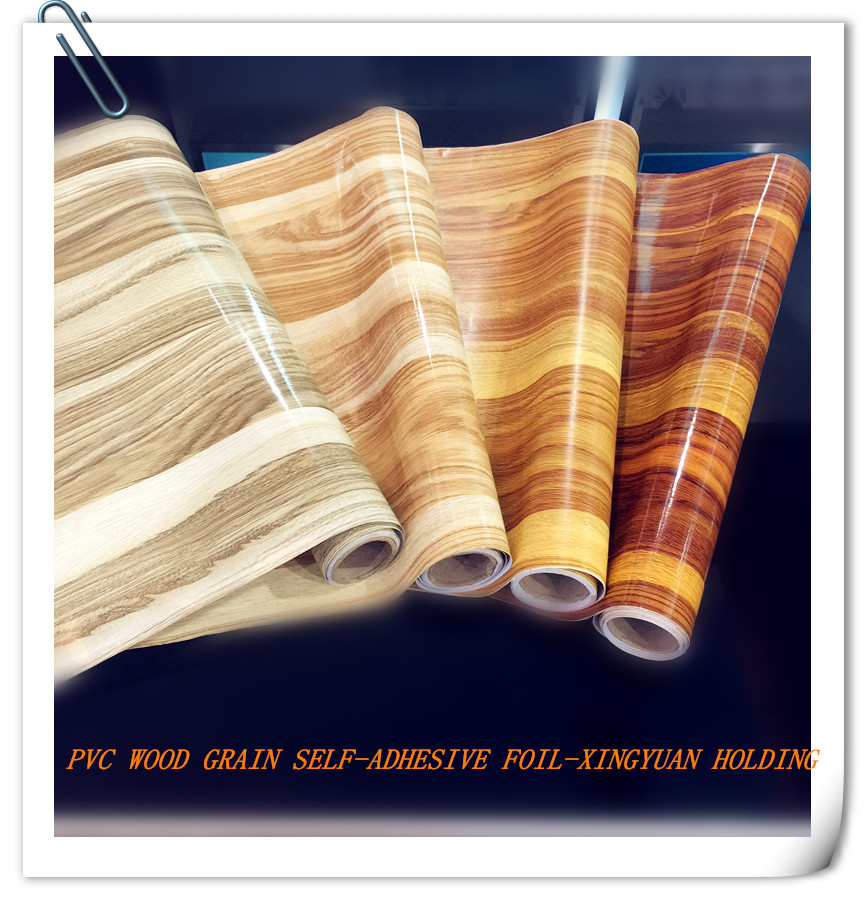 china pvc wood grain self-adhesive film,wall sticker,decorative foil