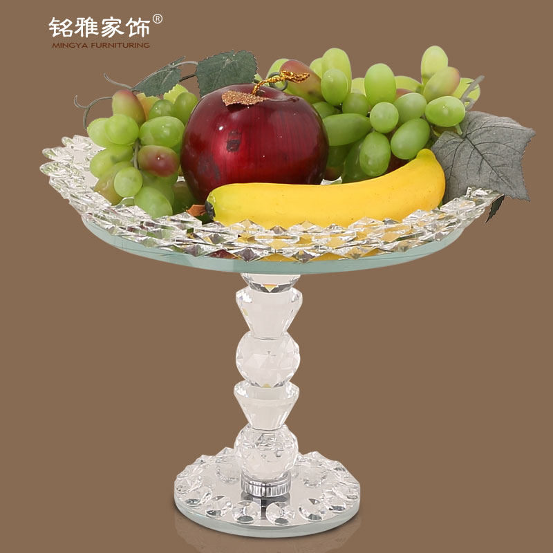 wedding favor popular design elegant crystal fruit tray with stand