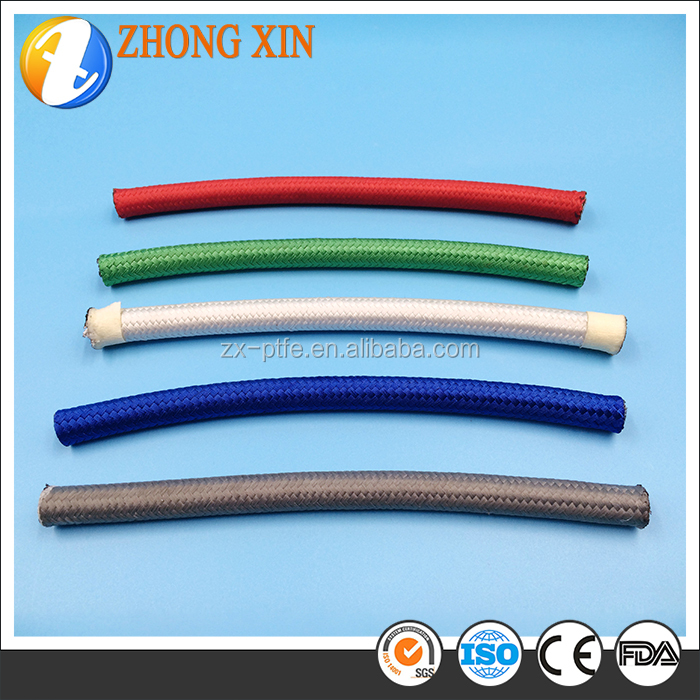Nylon Coated Steel Decorative Plastic Pipe Stainless Steel PTFE Braided Teflon Tube