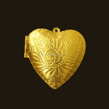 wholesale open heart locket charms for jewelry making