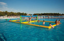 inflatable water game,inflatable water volleyball court,beach volleyball
