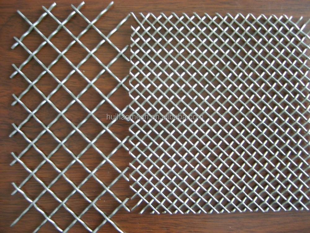 Crimped wire mesh galvanized stainless