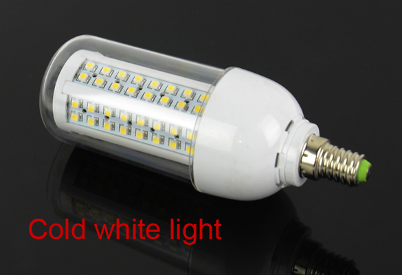 New 6W E14 SMD3528 108 LED <strong>Bulb</strong> Lamp Corn Light 220-240V With Transparent Cover