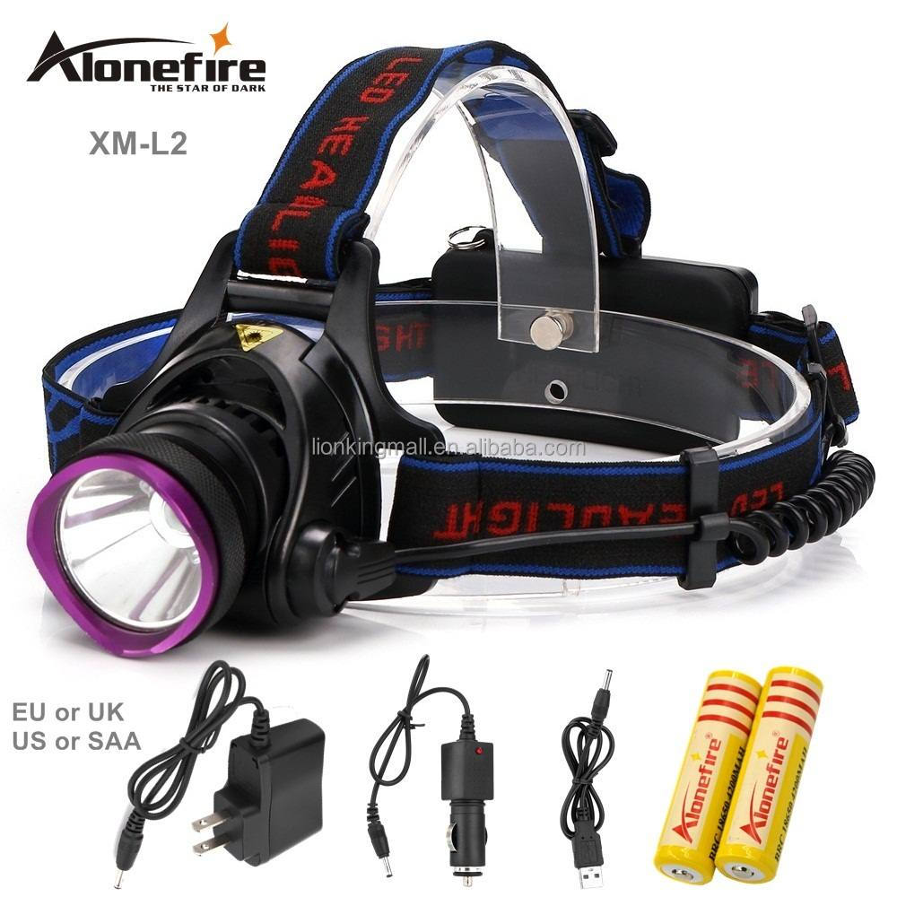 AloneFire HP81 XM-L <strong>L2</strong> led headlamp 2200LM LED headlight 18650 Rechargeable Battery waterproof head lamp Fishing Camping Hunting