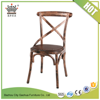Antique best price metal frame dining chair cross back dining chair vintage industrial dining chair