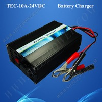 three stage charge mode lead acid and gel car battery charger 24v 10a