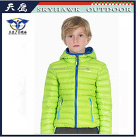 2016 new design warm light down jacket for children