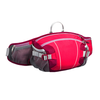 Outdoor sports gym shoulder strap waterproof hydration fanny pack,trekker hiking travel waist bag with mesh water bottle holder