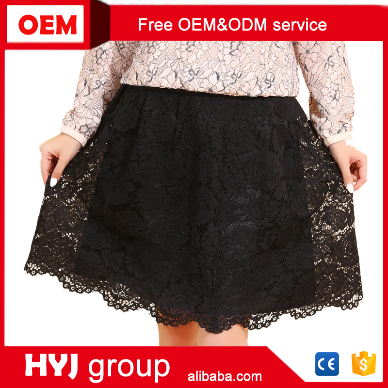 2016 New Design Summer Female Cotton Lace Mini short Skirt