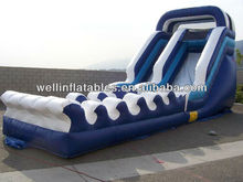 new design water park slides/ cheap industrial inflatable water slide