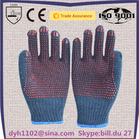 Cheap Cotton Gloves China Supplier Dots