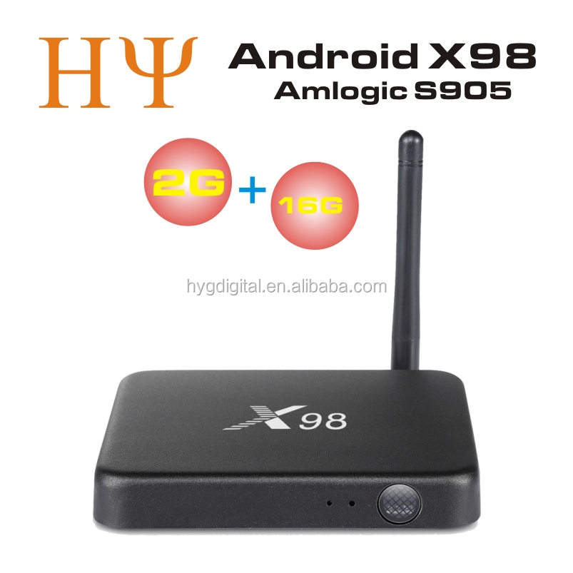 [Genuine]Amlogic S905 Quad Core 2GB 16GB X98 android tv box Android 5.1 Smart metal 4K wifi x98 persian tv box